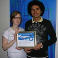 Gabrielle Bergeron et Martino Vidot, lauréats de la finale régionale du 13e Concours québécois en entrepreneuriat