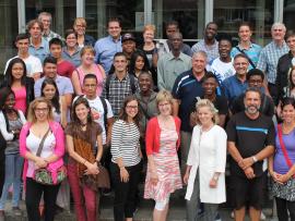 Une vingtaine d'étudiants internationaux ont participé au traditionnel diner d'accueil le 18 aout dernier.