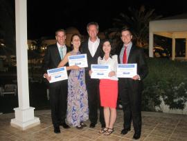 Les représentants du Cégep de Trois-Rivières Benjamin Gauthier, Anabelle Dubé, Alain Dumas, Nancy Lechuga Rodriguez et David Marcotte se sont distingués à l'EIJE de la Tunisie.