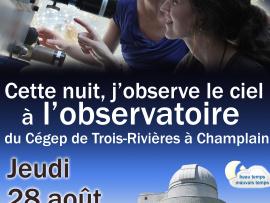 L'Observatoire du Cégep de Trois-Rivières