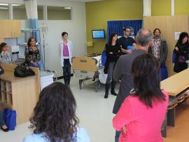 Les responsables en orientation et en information scolaire ont visité la salle d'immersion du département de Soins infirmiers.