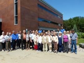 L'Association Forestière de la Vallée du St-Maurice a organisé une visite industrielle pour 42 personnes chez Innofibre.