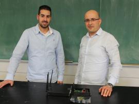Marc-André Déry, coorganisateur des midis Techno-Innovation, en compagnie de Naimi Boubekeur, conférencier.