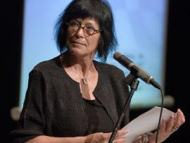 Denise Desautels, lauréate du Grand Prix Québecor du Festival International de la Poésie 2014 ainsi que du Prix du Gouverneur général-poésie en 1993.