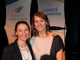 Mélanie Beaubien, organisatrice et enseignante au département de Psychologie et Mylène Paquette, conférencière.