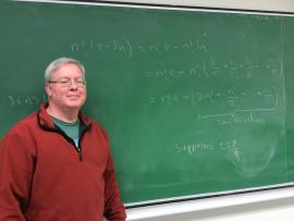 Luc Morin, enseignant au département des mathématiques