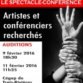 Affiche recrutement spectacle conference