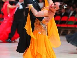 Danielle Nobert et son conjoint au Blackpool Dance Festival.