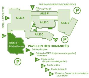 carte du pavillon des humanités