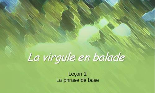 La phrase de base – Leçon 2