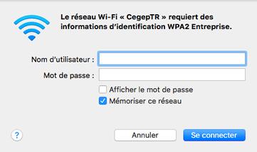 Wi-Fi Mac étape 4