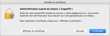 Wi-Fi Mac étape 5