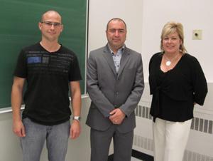 Mathieu Lebel, François Boily et Louise Grégoire