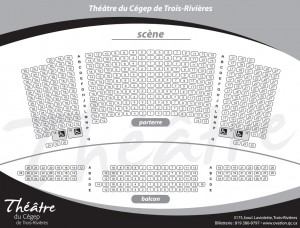 Plan de salle du théâtre du Cégep de Trois-Rivières