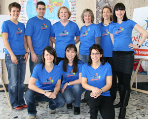 L'équipe du département de Biologie, porte-parole 2011.