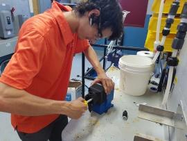 Darik Touzin du programme Mécanique industrielle (maintenance) a effectué son stage chez Sodem inc. à Trois-Rivières