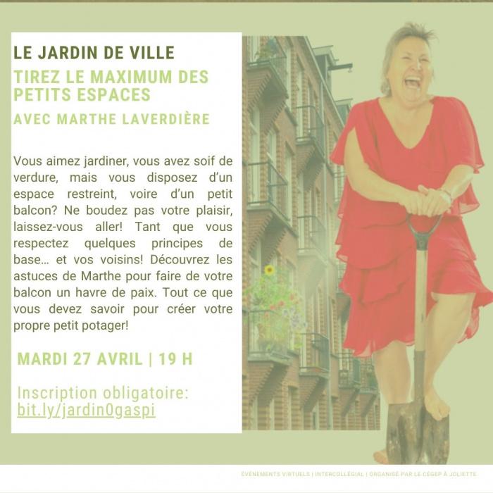 Description de la conférence de Marthe Laverdière