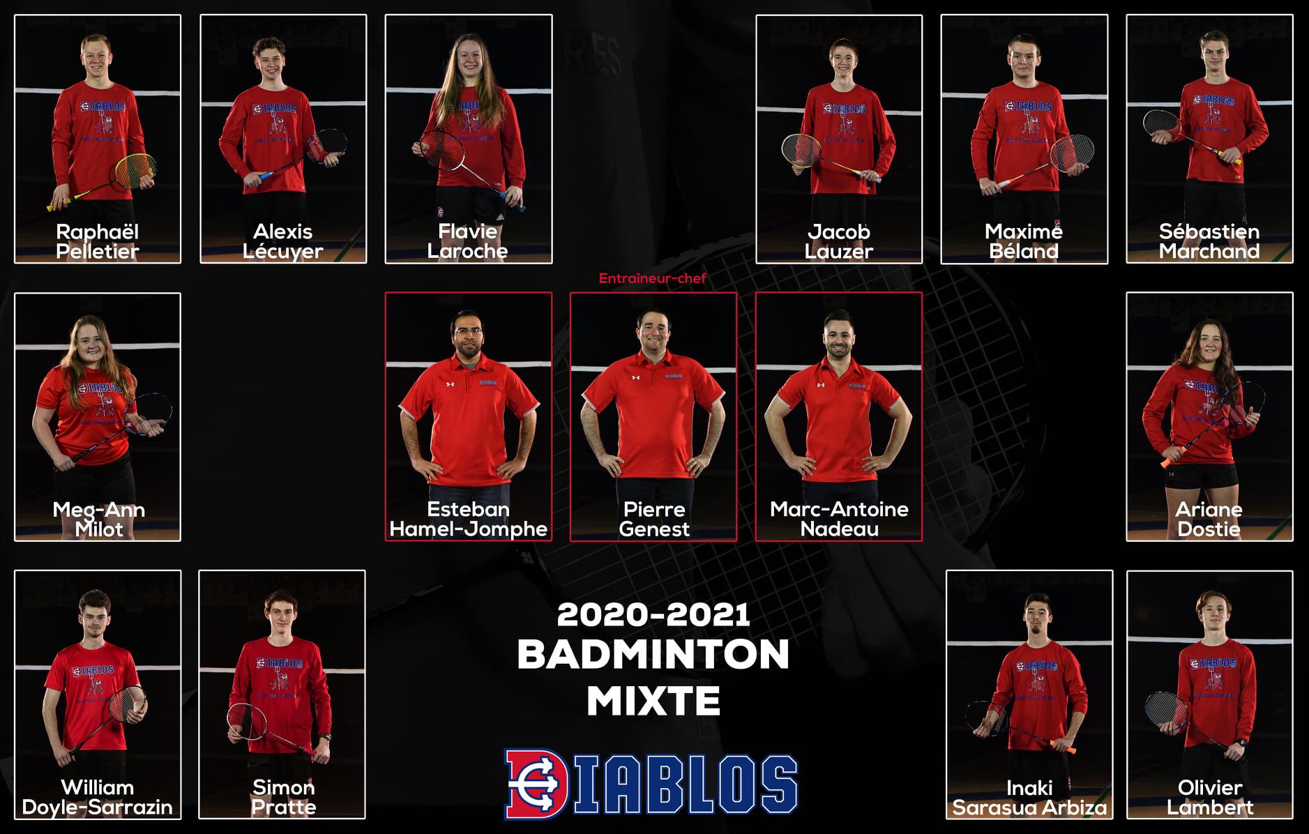 Équipe diablos badminton