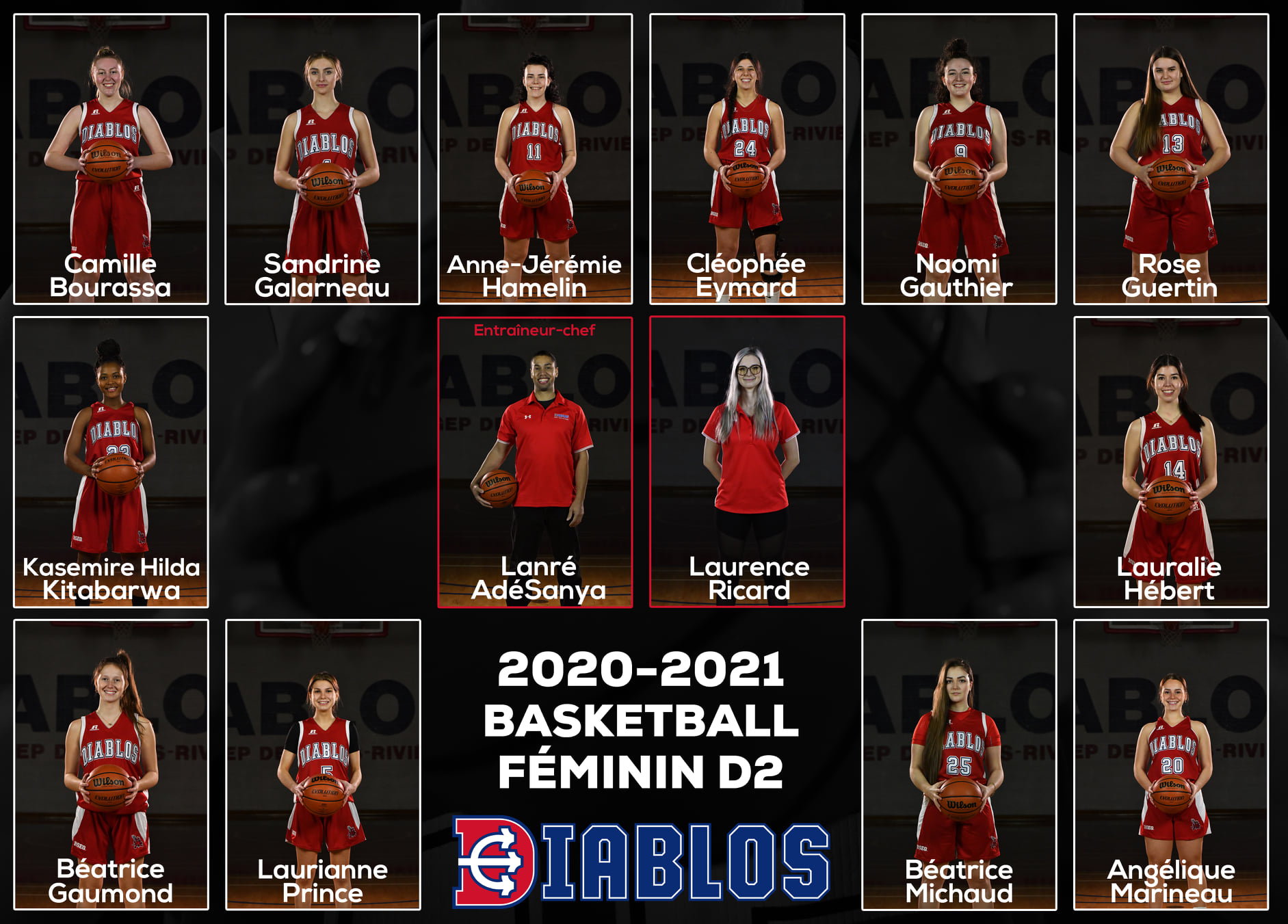 Équipe Diablos basketball féminin D2