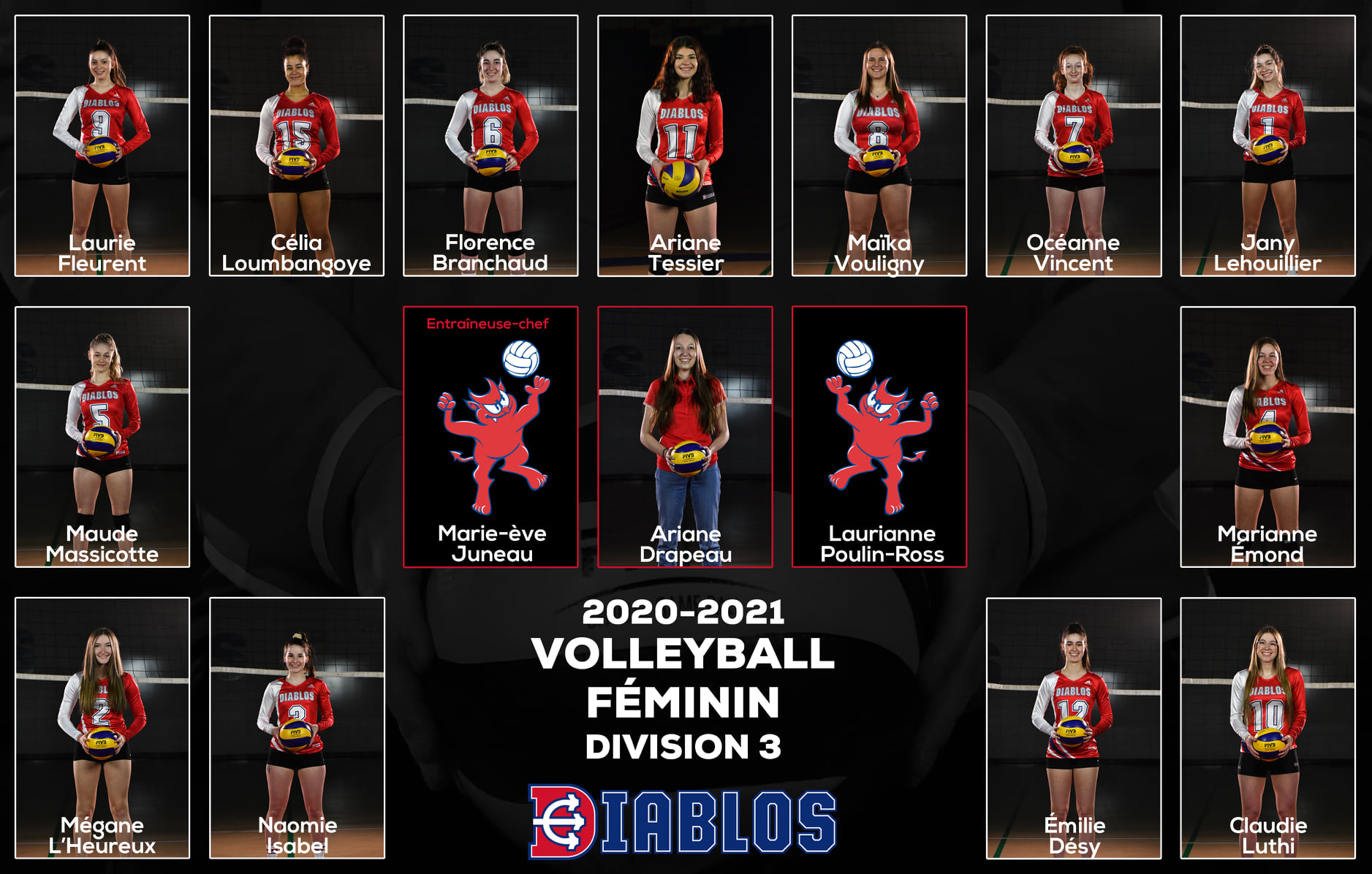 Équipe Diablos volleyball féminin D3