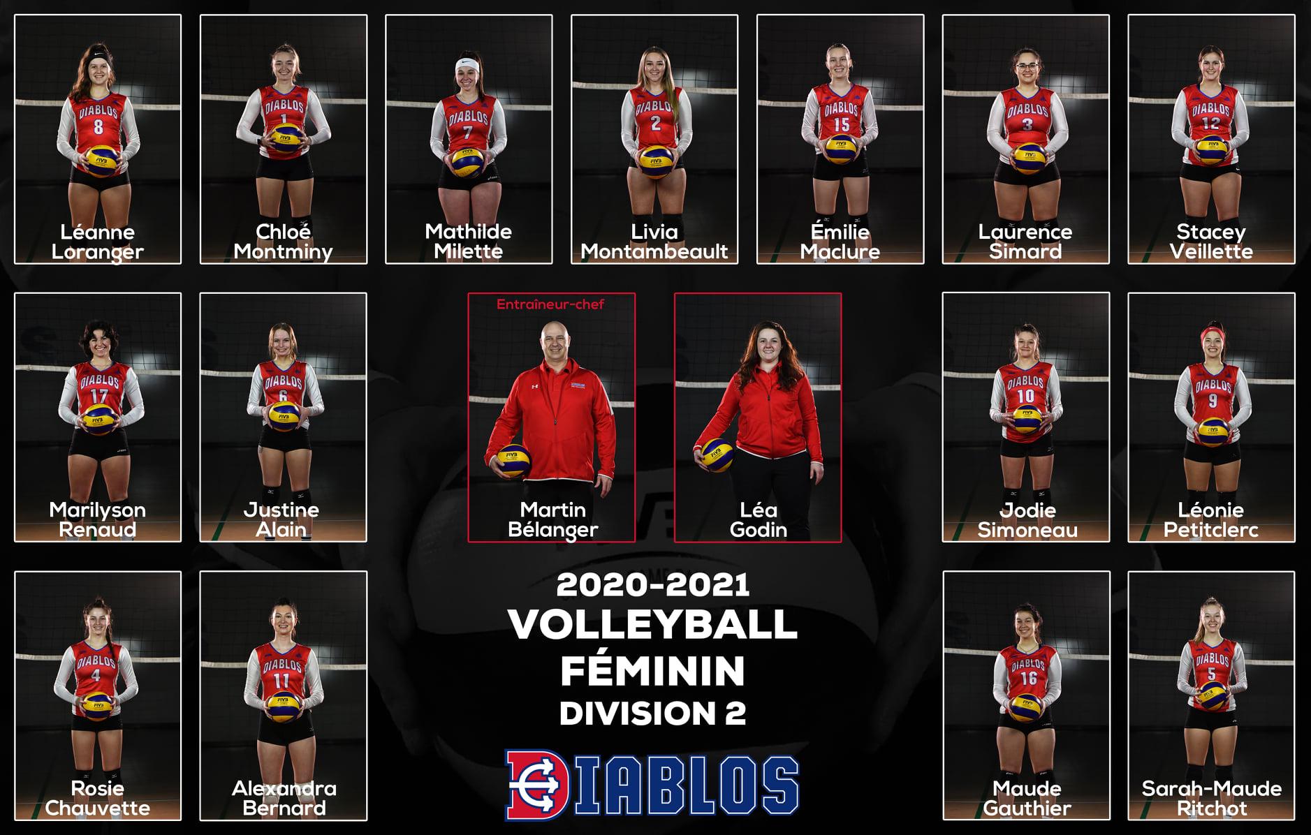Équipe Diablos Volleyball Féminin D2